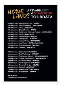 Homeland Tourlijst